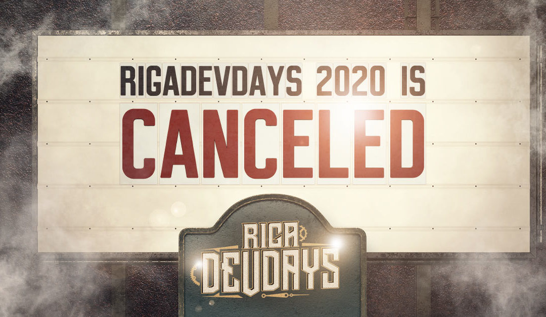 RigaDevDays 2020 is Canceled