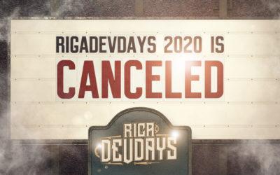 RigaDevDays 2020 is Canceled